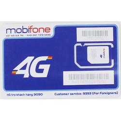 SIM 3G MOBIFONE DUNG LƯỢNG ƯU ĐÃI HÀNG THÁNG 62 GB