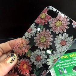 Ốp lưng iPhone 5 5S dẻo hoa ánh kim tuyến
