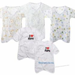 Body vải xuất Nhật cho bé từ 0-6 tháng tuổi
