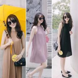 Đầm suông nữ yếm thời trang