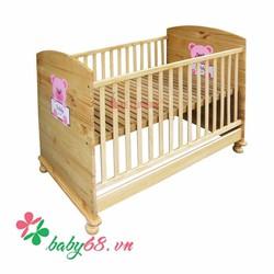Giường cũi Teddy màu tự nhiên