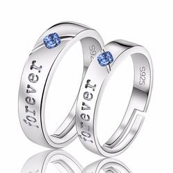 Nhẫn đôi đính đá Saphire - TS-0196