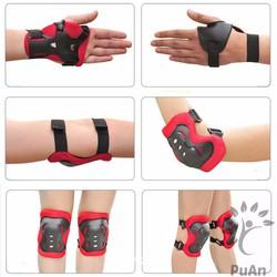 Bộ 6 miếng bảo vệ tay, chân cho bé tập xe đạp, patin, thể thao