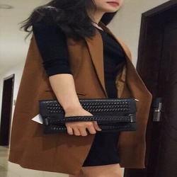 Áo khoác vest Balaza màu nâu nữ