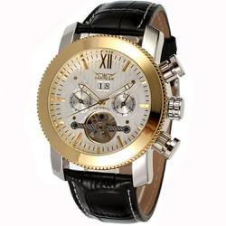 Đồng hồ cơ nam tính mặt găng cưa dây da xịn mai chỉ nổi-186