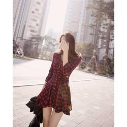 Đầm xòe somi thơi trang phong cách hàn  - DS11348202