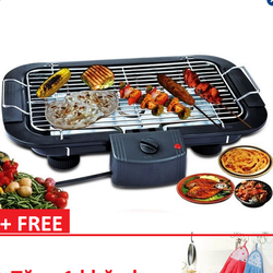 Bếp nướng điện không khói Electric Barbecue Grill  tặng kèm khăn lau