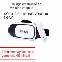 Kính 3d VR Box cho điện thoại tặng tay cầm chơi game
