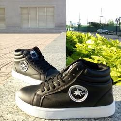 Giày nam cổ cao độn đế đen