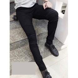Quần Jean Skinny đen rách kín độc đáo hàng nhập