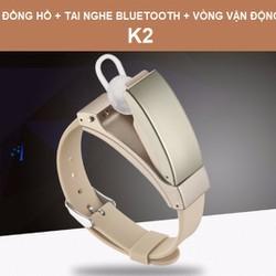Vòng theo dõi vận động Kiêm tai nghe Bluetooth  khaki