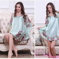Váy Ngủ Gợi Cảm Họa Tiết Màu Xanh