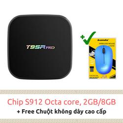 TV box T95R Pro - S912 2GB-8GB BT 4 - Tặng chuột ko dây cao cấp