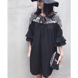 Đầm Voan Phối Ren Siêu Xinh Hàng Nhập - Nyn House Shop