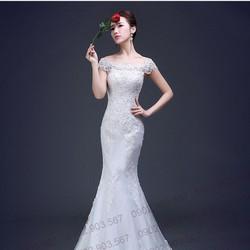 Áo cưới đuôi cá - T160102