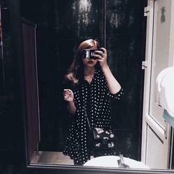 Đầm Sơ Mi Chấm Bi - Nyn House Shop