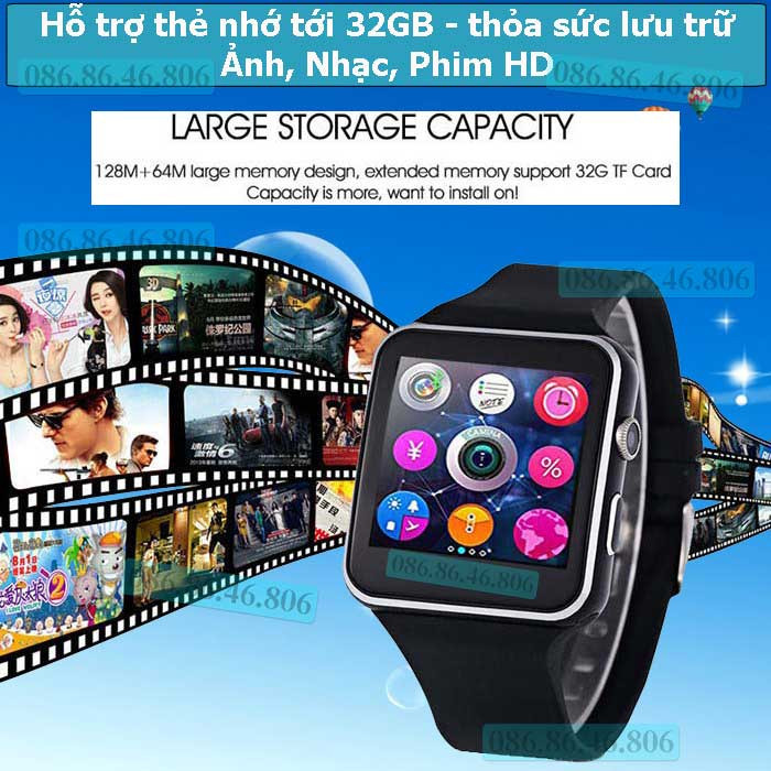 Đồng hồ thông minh Nhật siêu phẩm Màn Cong nghe gọi giải trí Fuji MB6 15