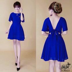 SuSu Shop - Đầm xòe thắt nơ lưng - SSH625