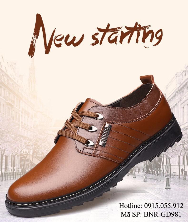 Giày Nam da thật - Mẫu mới sang trọng 1