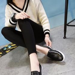 Free ship- Giày da đen bóng Hàn Quốc nam nữ phù hợp mọi phong cách