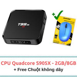 TV box T95M - S905X 2GB RAM 8GB ROM Bluetooth- Tặng chuột không dây