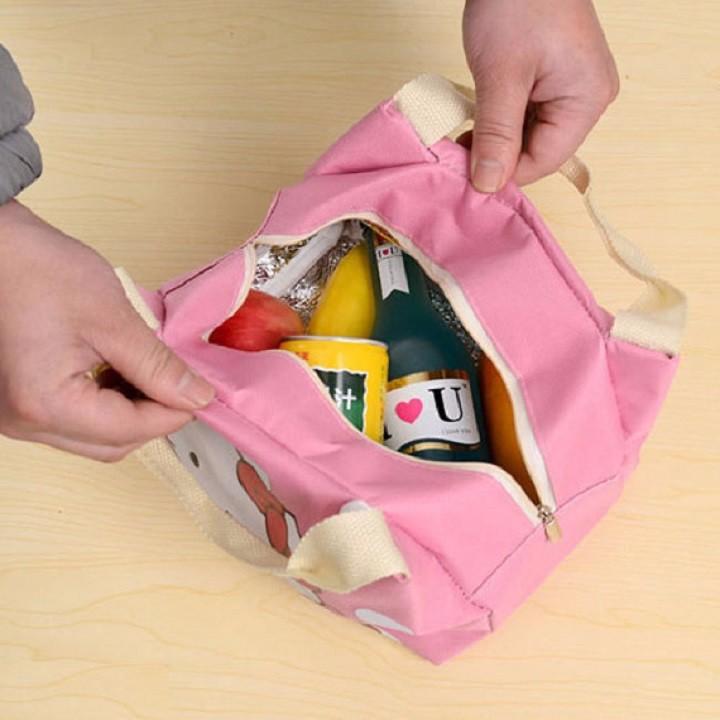 Túi giữ nhiệt hình Dorenon và Hello chấm bi 1