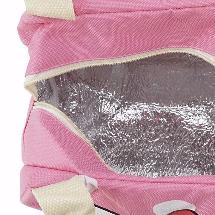 Túi giữ nhiệt hình Dorenon và Hello chấm bi 7