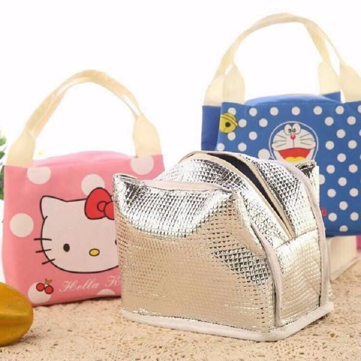 Túi giữ nhiệt hình Dorenon và Hello chấm bi 4