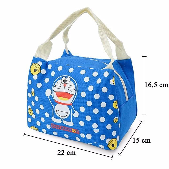 Túi giữ nhiệt hình Dorenon và Hello chấm bi 6