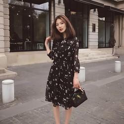 Đầm voan nhún thời trang - D1453