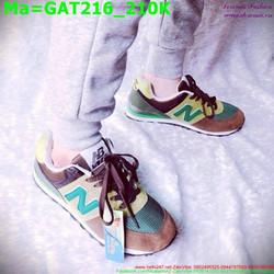 Giày thể thao nam cổ thấp phối nhiều màu thời trang GAT216