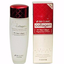 Nước hoa hồng đỏ Collagen 3W CLINIC 150ml