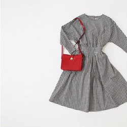 Đầm ca rô phong cách Hàn Quốc