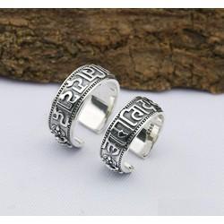 Nhẫn khắc Chú Om Mani Padme Hum và Kim Cang Luân