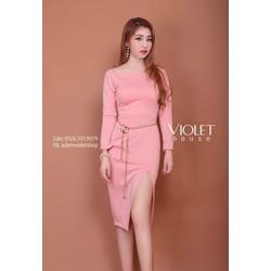 Đầm thiết kế - Đầm body bẹt vai