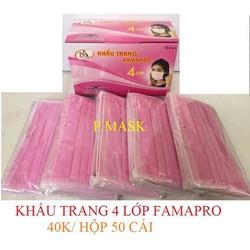 Combo 3 Khẩu trang y tế Famapro 4 lớp dày kháng khuẩn