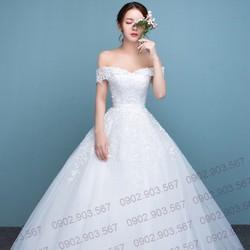 Áo cưới trễ vai gợi cảm - T160902