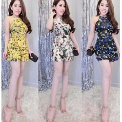 Jump short cổ yếm hoa liti xinh iu - JUMKN1434