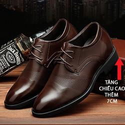 Giày Tăng Chiều Cao Nam  - Da Nhập Khẩu Cao Cấp