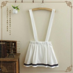Chân váy thủy thủ có dây đeo