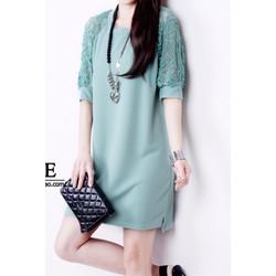 Đầm nữ tay lửng , thiết kế dáng suông, phong cách Hàn - D10887732