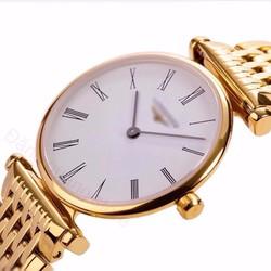 đồng hồ kim chống nước dây inox đặc kính saphire mã LG18K