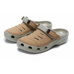 Dép Crocs Yukon sport clog màu khaki
