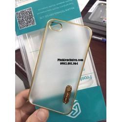 Ốp lưng cứng nillkin dành cho iphone 4 4s trong, sần, viền vàng