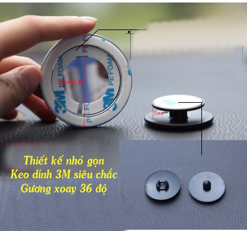 Gương cầu tròn xoay 360 độ GC01 1