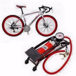Bơm lốp xe đạp chân đa năng