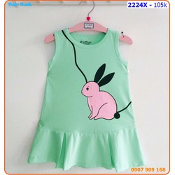 Đầm đuôi cá họa tiết chú thỏ con rất đáng yêu