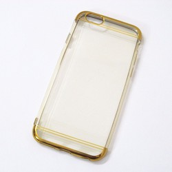 Ốp lưng dẻo iPhone 6 6S mẫu đơn giản vàng - HỘP 2 CÁI