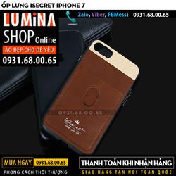 Ốp lưng iPhone 7 iSecret Leather Metal cho giá rẻ
