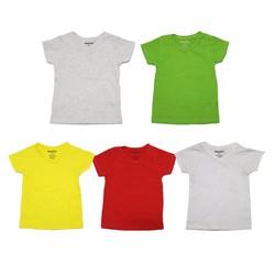 Bộ 5 áo thun cổ tim nhiều màu